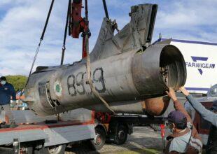 Miniatura per l'articolo intitolato:Arrivato il Republic F-84F 36-35